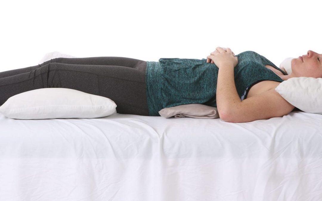 وضعیت بدنی هنگام خواب: خوابیدن به پشت